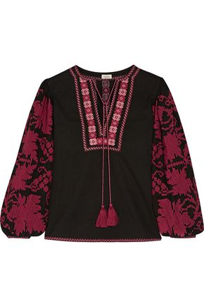 TALITHA Salma embroidered cotton blouse