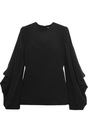 TOM FORD Draped silk-cady blouse