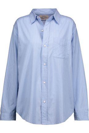 CURRENT/ELLIOTT The Prep School pinstriped cotton shirt
