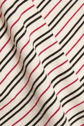 CURRENT/ELLIOTT The Game Day striped cotton top