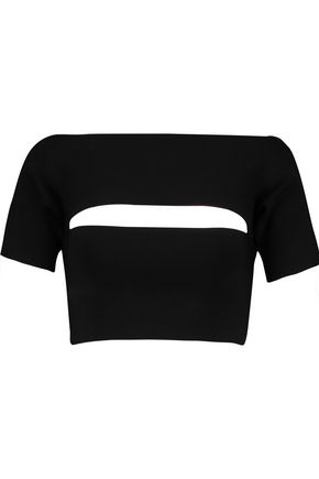 T by ALEXANDER WANG Cutout stretch-knit top