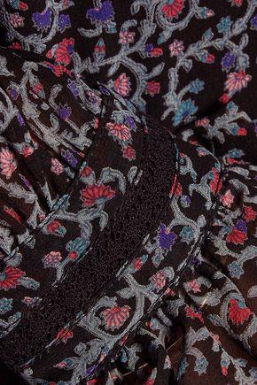 TALITHA Frill floral-print silk-chiffon blouse