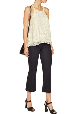 ALICE + OLIVIA Ravenna crochet top