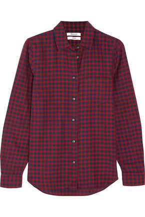 MADEWELL Shrunken Ex-Boyfriend checked cotton shirt