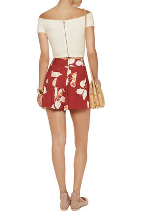 ALICE + OLIVIA Gracelyn cropped off-the-shoulder stretch-jersey top