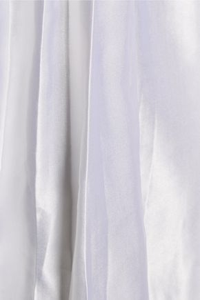 EQUIPMENT Pleated satin and washed-silk top