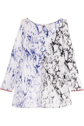 MASTER&MUSE x LEMLEM Hana split-front printed silk-crepe coverup