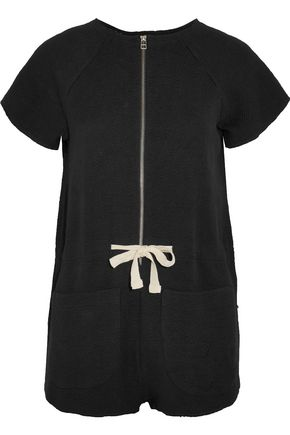 SOLID & STRIPED Cotton-blend bouclé playsuit