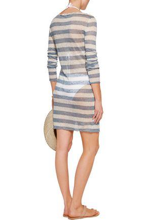 SOLID & STRIPED Birkin striped slub linen mini dress