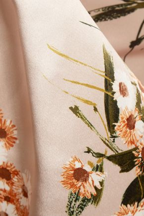 ROCHAS Printed silk-satin top