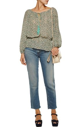 TALITHA Gia floral-print silk-chiffon blouse