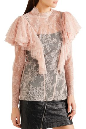 PHILOSOPHY di LORENZO SERAFINI Ruffled lace blouse