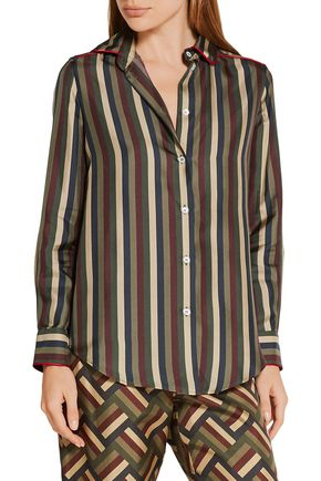 F.R.S. FOR RESTLESS SLEEPERS Leda striped silk shirt