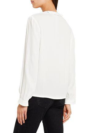 MAJE Ruffled crepe blouse
