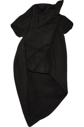RICK OWENS Gathered cotton and silk-blend top