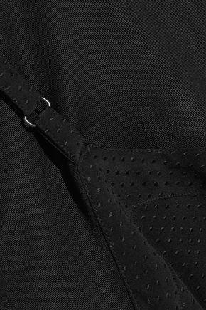 MAISON MARGIELA Silk crepe de chine-paneled satin-jersey T-shirt