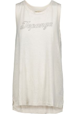 CURRENT/ELLIOTT The Muscle Tee printed cotton-blend tank