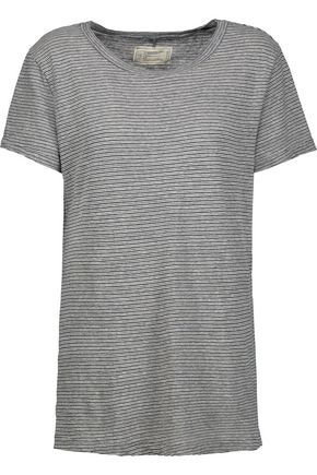 CURRENT/ELLIOTT The Petit striped cotton-jersey T-shirt