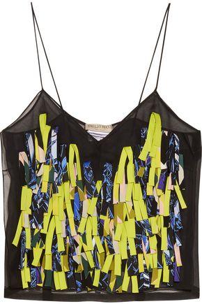 EMILIO PUCCI Fringed silk-organza camisole