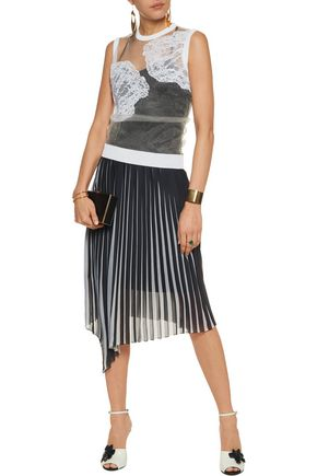 EMILIO PUCCI Embroidered mesh top