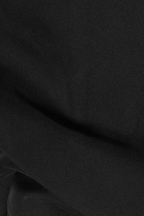 EMILIO PUCCI Asymmetric silk-crepe camisole