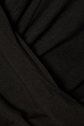 ALICE + OLIVIA Jazlynn wrap-effect stretch-jersey top