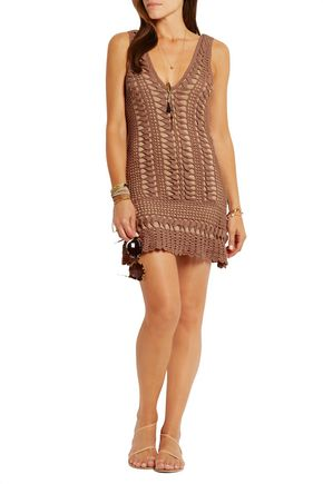 MELISSA ODABASH Alexis crocheted cotton coverup