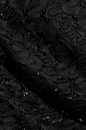 MELISSA ODABASH Alyna crochet-knit playsuit