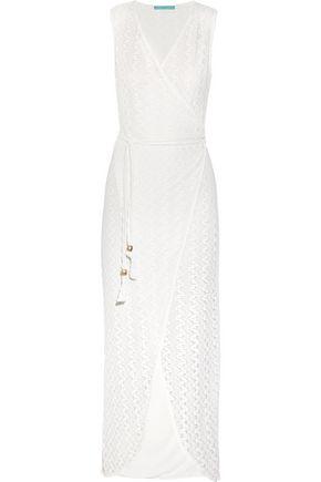 MELISSA ODABASH Dee wrap-effect crocheted lace maxi dress