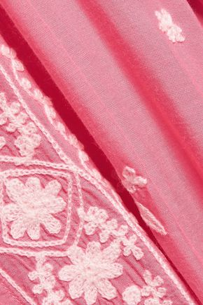 MELISSA ODABASH Fleur embroidered voile kaftan
