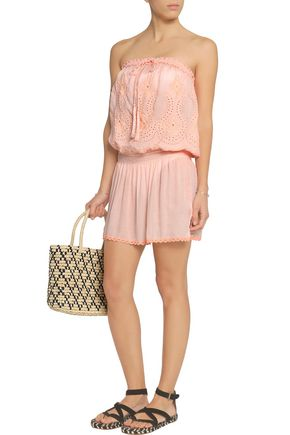 MELISSA ODABASH Fruley broderie anglaise voile coverup