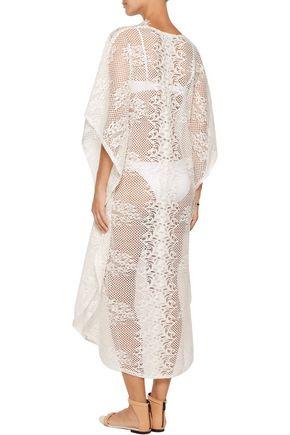 MELISSA ODABASH Kendall cotton-blend lace coverup