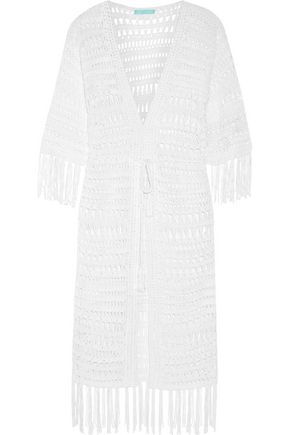 MELISSA ODABASH Naomi metallic crocheted robe