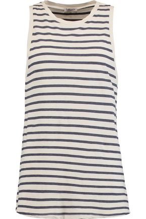 SPLENDID Striped cotton-blend tank