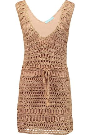MELISSA ODABASH Tiffany crocheted mini dress