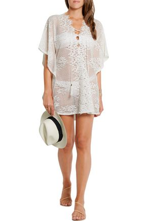 MELISSA ODABASH Kate cotton-blend lace kaftan