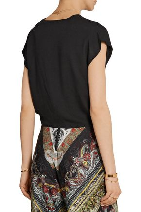 ALICE + OLIVIA Jenara cropped crepe top