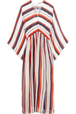 DOLCE & GABBANA Striped silk-chiffon kaftan