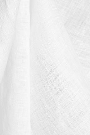 EQUIPMENT Split-side linen top