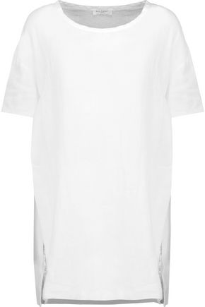 EQUIPMENT FEMME Split-side linen top