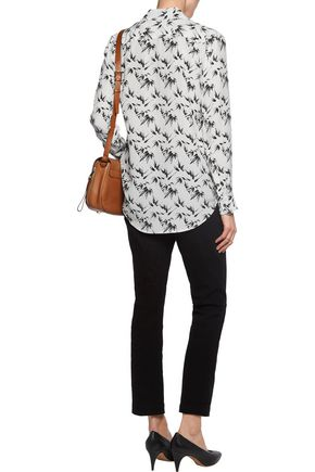 EQUIPMENT FEMME Reese printed washed-silk shirt