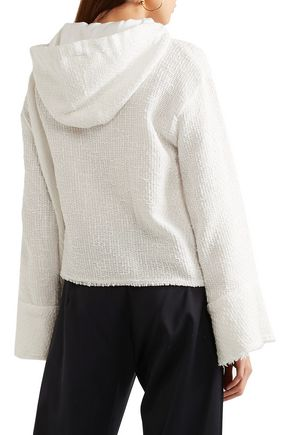 MOTHER OF PEARL Max cotton-blend tweed hooded top