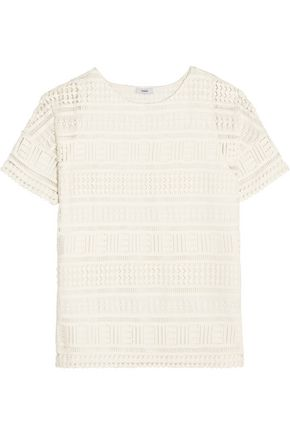 VINCE. Crocheted cotton top