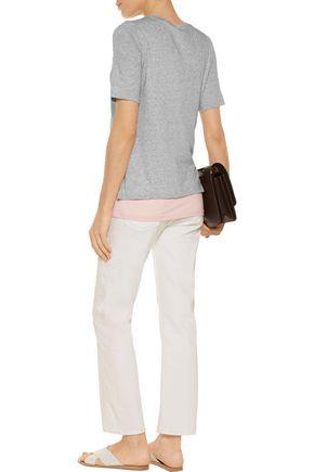 VINCE. Layered Pima cotton and modal-blend jersey T-shirt