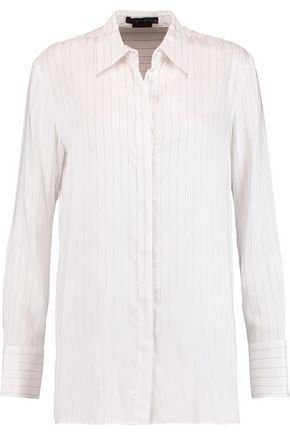 ALICE + OLIVIA Striped twill shirt