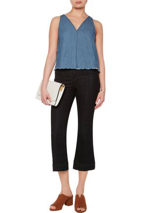 W118 by WALTER BAKER Annabelle frayed denim top