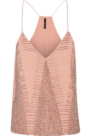 W118 by WALTER BAKER Kat bead-embellished georgette top