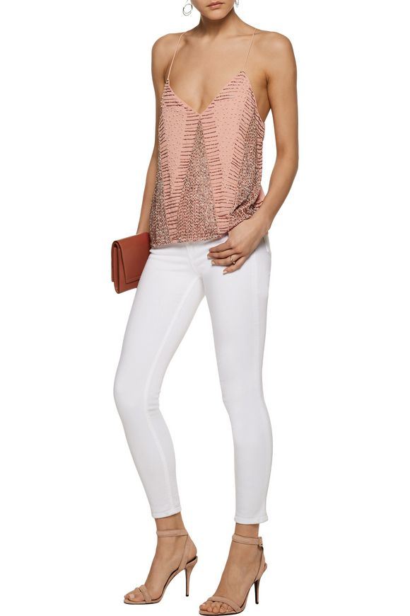 Kat bead-embellished georgette top   W118 by WALTER BAKER   Sale up to 70%  off   THE OUTNET