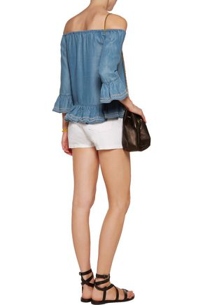 W118 by WALTER BAKER Torrence off-the-shoulder denim top