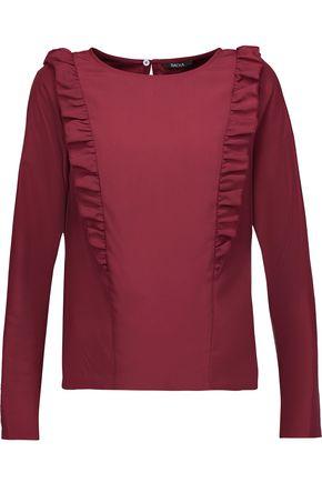 RAOUL Elena ruffled crepe de chine blouse